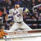Zack Wheeler 2017 Topps #631 New York Mets Baseball Card