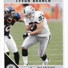 Tyvon Branch 2011 Score #216 Oakland Raiders Football Card