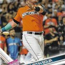 Justin Bour 2017 Topps Update #US134 Miami Marlins Baseball Card