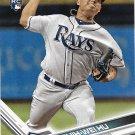 Chih-Wei Hu 2017 Topps Update Rookie #US198 Tampa Bay Rays Baseball Card