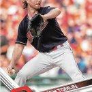 Josh Tomlin 2017 Topps #342 Cleveland Indians Baseball Card