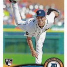 Jacob Turner 2011 Topps Update Rookie #US174 Detroit Tigers Baseball Card