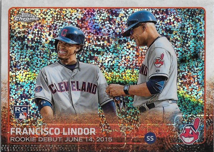 Francisco Lindor 2015 Topps Update Chrome Rookie Debut Us286