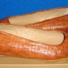 UGG Women's Leather Linda Weav Tobacco Color Shoes Size US 7 NEW Made in Italy