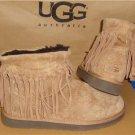 UGG Australia Chestnut WYNONA Fringe Suede Ankle Boots Size US 9, EU 40 #1007984