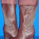 UGG Australia RAVENNA Stout Knee High Wedge Leather Boots Size US 9.5 NEW #3200