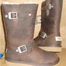 UGG Australia Kids KENSINGTON Brown Toast Leather Boots Size US 2 NIB #1969 K