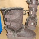 UGG Australia SKYLAH Brown Bomber Shearling Buckle Boots Size US 7 NEW #1008230