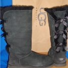 UGG Australia Black Triple Bailey Bow Tall Boots Size US 8, EU 39 #1007308