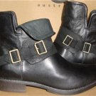 UGG Australia CYBELE Black Ankle Leather Boots Size US 7.5, EU 38.5 NIB #1007673