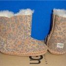 UGG Australia CASSIE Leopard Chestnut Suede Sheepskin Boots Size 2/3 NEW 1001781