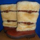 UGG Australia LILYAN MAHOGANY Waterproof Leather Sheepskin Boots Size US 6 NIB