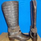 UGG Australia ESPLANADE CROCO Java Brown Tall Leather Boots Size US 6, EU 37 NEW