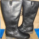 UGG Australia DAHLEN Tall Black Leather Fully Lined Boots Size 9.5 NEW 1006043
