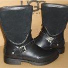 UGG Australia SIVADA Black Rubber Suede Rain Boots Size US 8, EU 39 NIB #1014457