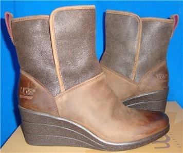 UGG Australia RENATTA Stout Waterproof Leather Ankle Boots Size 5 NIB #1008021