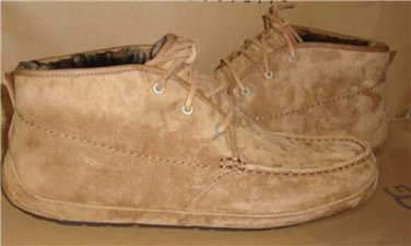 UGG Australia Chestnut LYLE Chukka Suede Sheepskin Slipper Boots Size US 17 NIB
