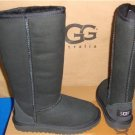 UGG Australia KIDS Black Classic Tall Suede Sheepskin Boots Size US 13 NEW #5229