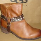 UGG Australia DARLING Harness Whiskey Leather Ankle Boots Size US 9 NEW #1006683