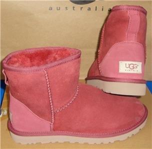 UGG Australia Redwood Classic Mini Suede Sheepskin Boots Size US 7 NIB #5854