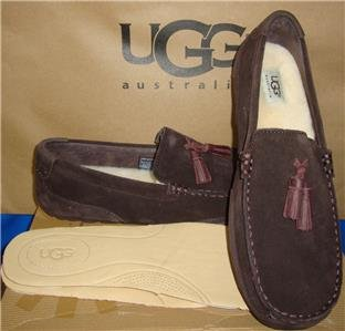 UGG Australia Men's BOYLAN Stout Twinsole Moccasins Size US 9, EU 40 NIB 1006164