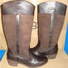UGG Australia CASSIS Lodge Brown Tall Leather Boots Size US 9, EU 40 NIB 1008719