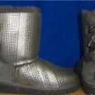 UGG Australia KIDS Grey BAILEY BOW Holiday Boots Size US 3, UK 2.0 NIB # 1004797