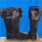 UGG Australia ROSANA Black Tall Toscana Calf Boots Size US 11, NIB  #1008044