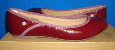 UGG Australia ANTORA II Deep Bordeaux Patent Leather Slip On Shoes Size 7 NIB