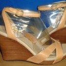 UGG Australia ISADORA Sand Leather Ankle Strap Wedge Sandals Size US 6,EU 37 NIB