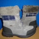 UGG BUTTE Grey Metal Waterproof Boots Size 4Y fit Women Size US 6 NIB 1001937
