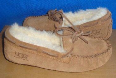 UGG Australia Kids DAKOTA Chestnut Mocassin Slipper Size US 13 NIB #5296