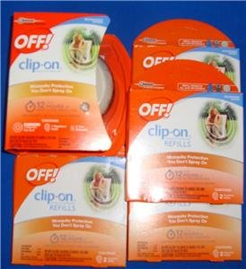 OFF Clip On Mosquito Repellent Fan + 8 Repellent Refills NEW By Johnson