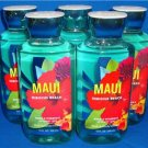 Bath & Body Works MAUI HIBISCUS BEACH Shower Gel Lot Of 5 Full Size Bottles 10oz