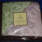 Baby Gap Jungle Pink Green Organic Reversible Crib Quilt Blanket NEW Retail $85