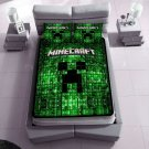 minecraft fleece blanket with 2pcs pillow case SKU:50578081,58285315(2) birthday and Christmas Gift
