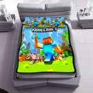 minecraft fleece blanket with 2pcs pillow case SKU:50578113,41330563(2) birthday and Christmas Gift