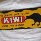 "VINTAGE 1960 KIWI SHOE POLISH 22"" METAL SIGN-ORIGINAL"