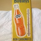 "VINTAGE 1950'S BIRELEY'S ORANGE SODA POP BOTTLE 26"" METAL THERMOMETER SIGN ORIG."