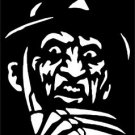2 Pack of Custom Freddy Kruger Vinyl Decals / Stickers
