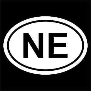 "2 Pack of Custom New England Patriots ""NE"" Vinyl Decal / Stickers"