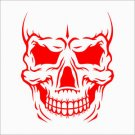 "2 Pack of Custom ""Skull Face 3"" Vinyl Decals / Stickers"