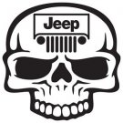 "2 Pack of Custom ""Jeep Skull"" Vinyl Decals / Stickers"