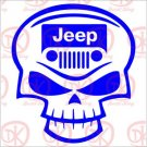 "2 Pack of Custom ""Jeep Skull2"" Vinyl Decals / Stickers"