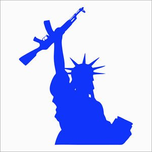 Custom 2(TWO) Pack of Lady Liberty AK Vinyl Decal / Sticker