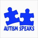 "2 Pack of Custom ""Autism Speaks"" Vinyl Decals / Stickers"