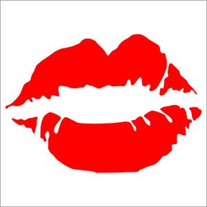 2 Pack of Custom Lipstick Print Vinyl Decals / Stickers