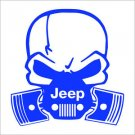 "2 Pack of Custom ""Jeep Gas Mask Skull"" Vinyl Decals / Stickers"