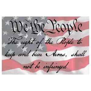 Custom 4 inch American Flag 2nd Amendment Quote Printed Vinyl Decal 2 Pack