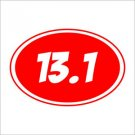 2 Pack of Custom 13.1 Marathon Vinyl Decals / Stickers
